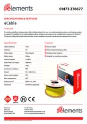 eCable Specification Sheet