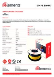 eFlex Specification Sheet