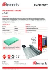 eFoil Specification Sheet