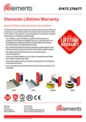 Elements Lifetime Warranty